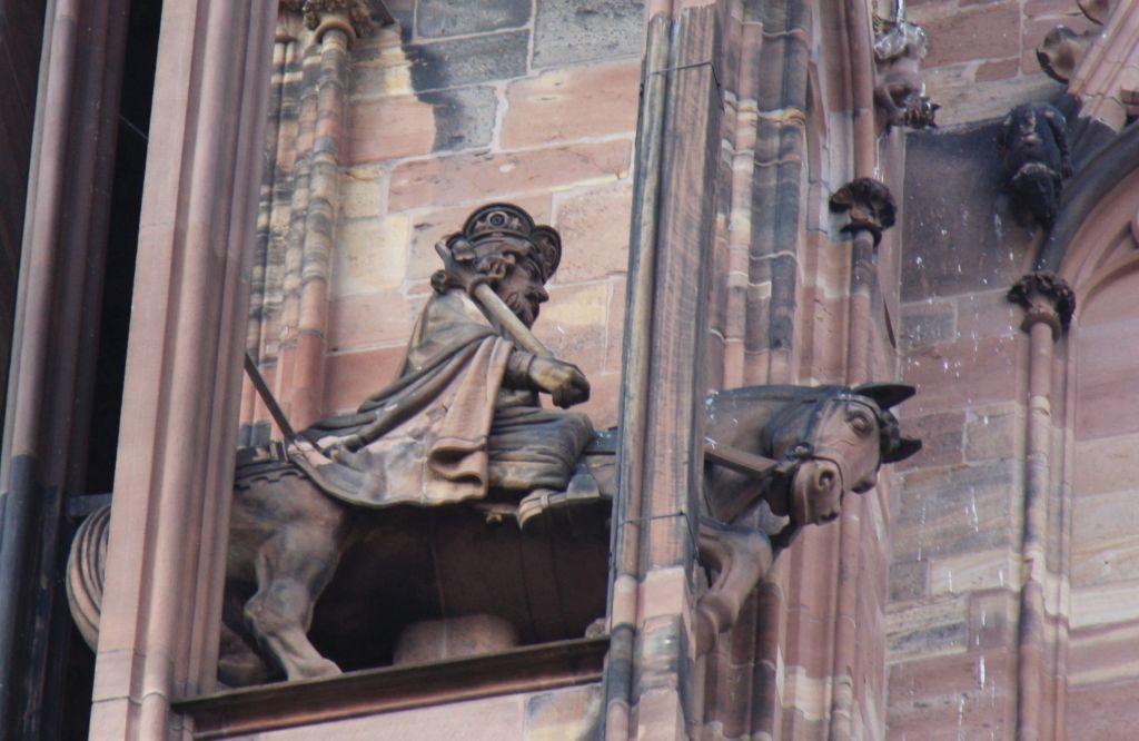 Reiterfigur Kaiser Heinrich III. am Strassburger Muenster