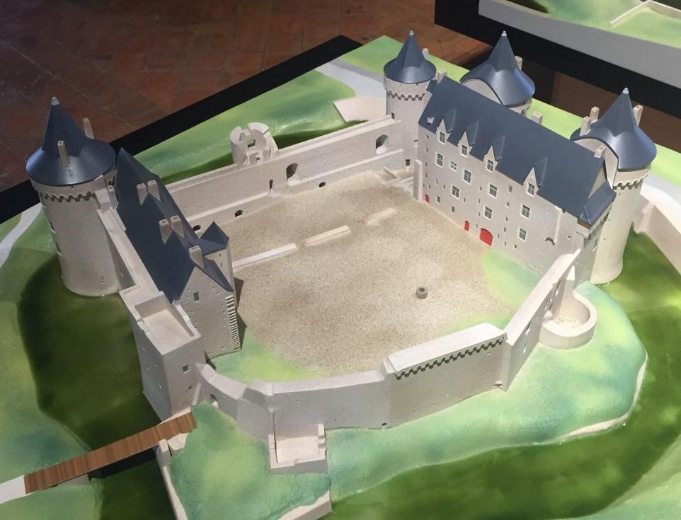 Modell des heutigen Schlosses Suscinio