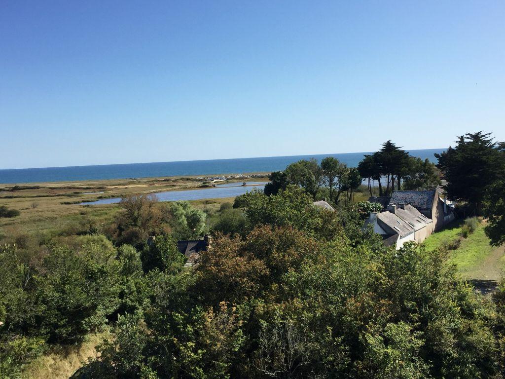 Blick von der Burg Suscinio auf den Atlantik