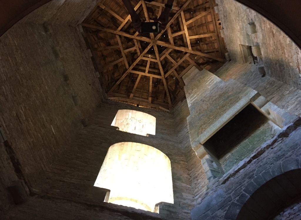 Dachkonstruktion Tour Neuve im Schloss von Suscinio