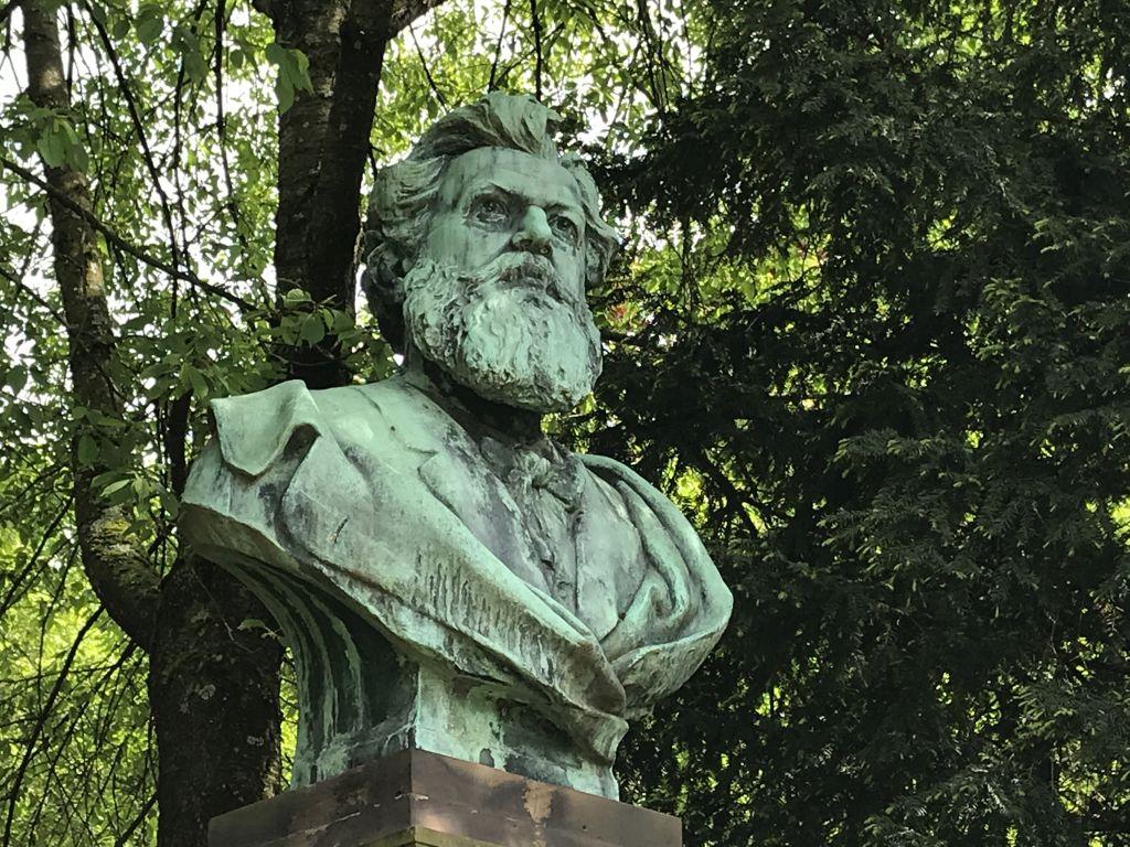 Bueste Victor Nessler im Parc de l'Orangerie in Strasbourg