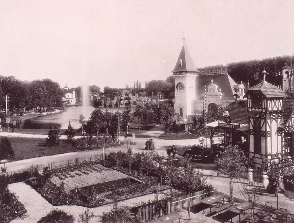 Ansicht der Orangerie waehrend der Industrie- und Gewerbeausstellung in Strassburg 1895