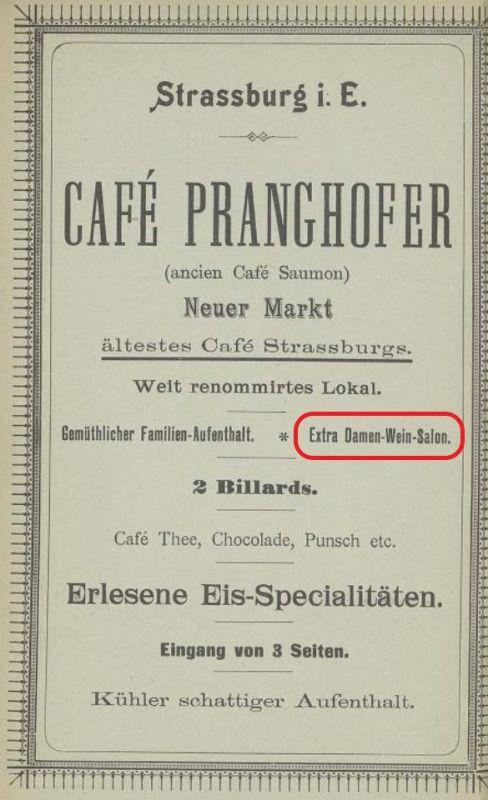 Werbung aus dem Katalog der Industrie- und Gewerbeausstellung in Strassburg 1895