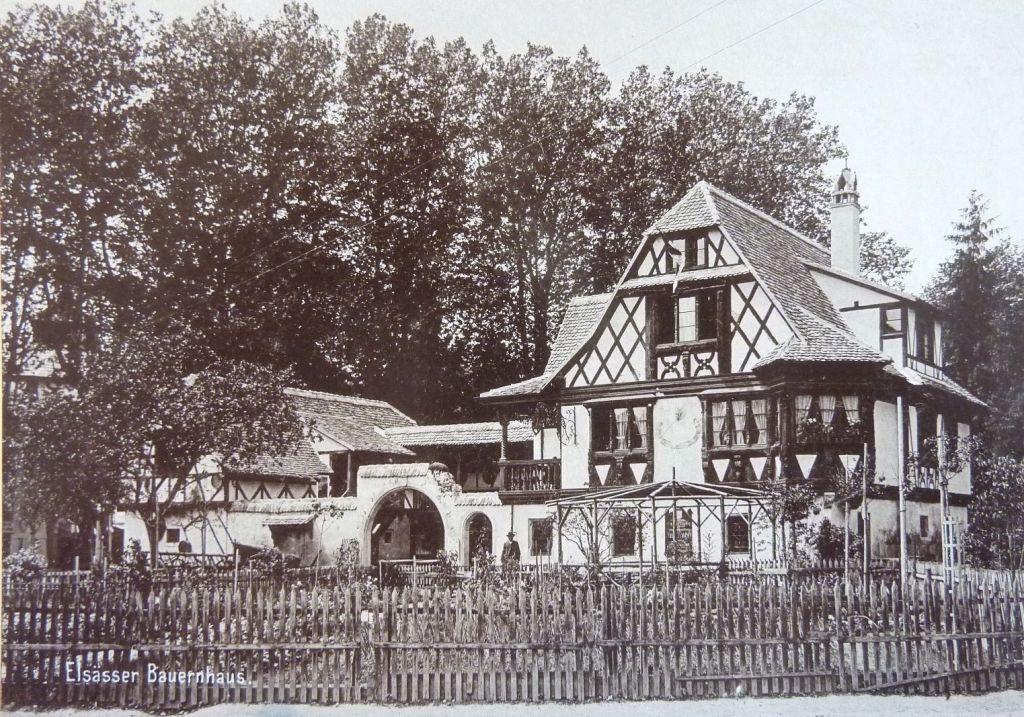 Buerehiesel 1898 im Orangerie-Park in Strassburg