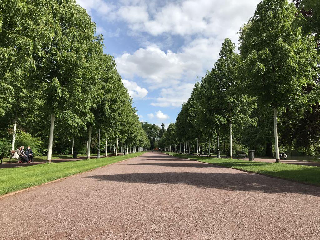 Allee de l'Orangerie-Joséphine im Orangerie-Park in Strassburg
