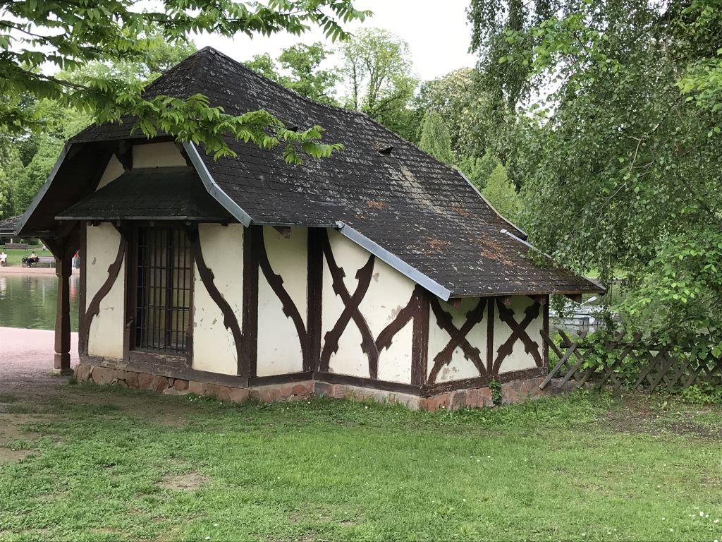 Fischerhaus im Parc de l'Orangerie in Strassburg