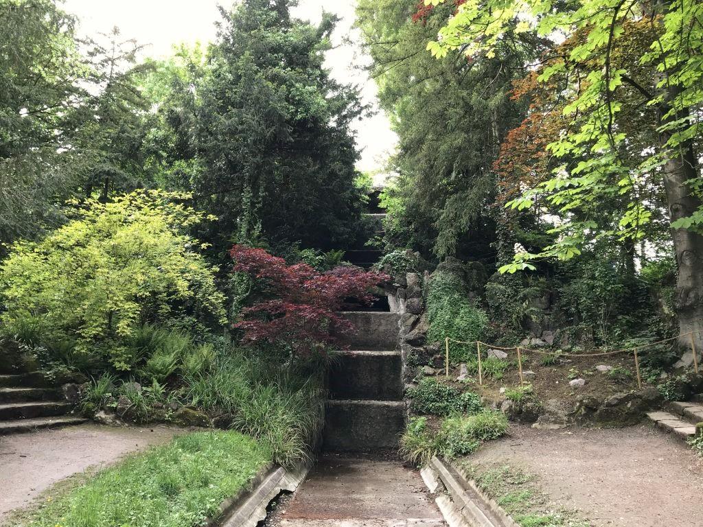 Kaskade im Parc de l'Orangerie in Strasbourg