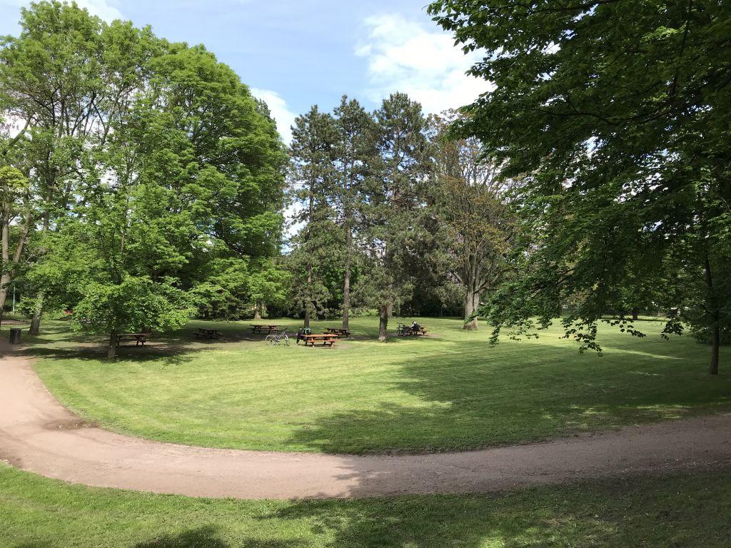 Gruenflaeche im Parc de l'Orangerie in Strasbourg