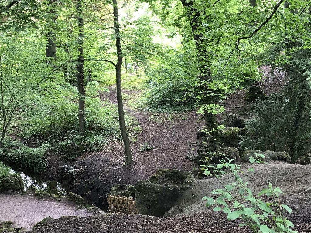 Landschaftsansicht im Parc de l'Orangerie in Strasbourg