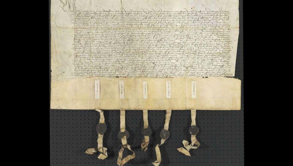 Urkunde Ernennung Hans Hammer zum Meister der Dombauhütte in Strassburg
