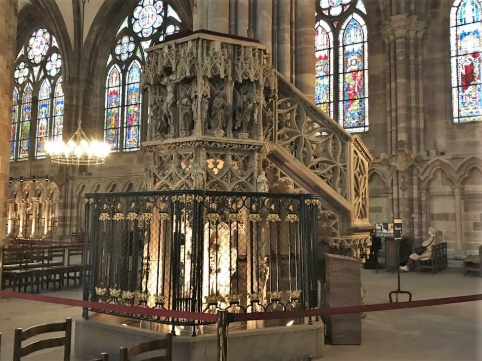 Kanzel des Johann Geiler von Kaysersberg in der Cathedrale de Strasbourg