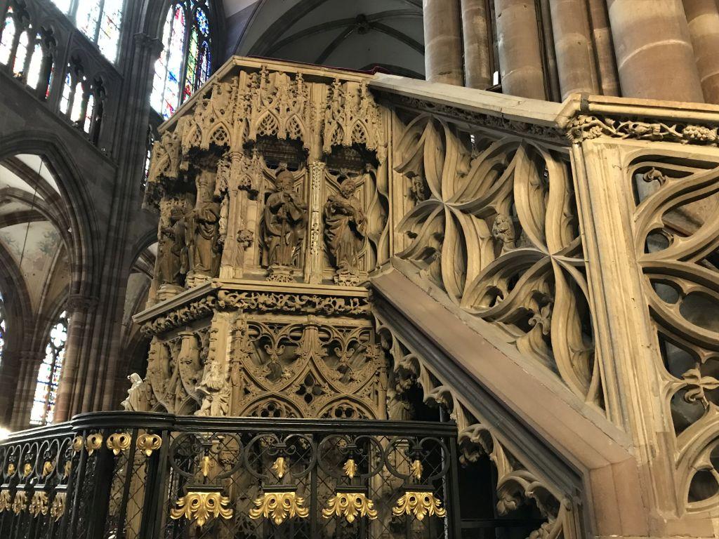 Aufgang zur Kanzel des Johann Geiler von Kaysersberg in der Kathedrale in Strasbourg