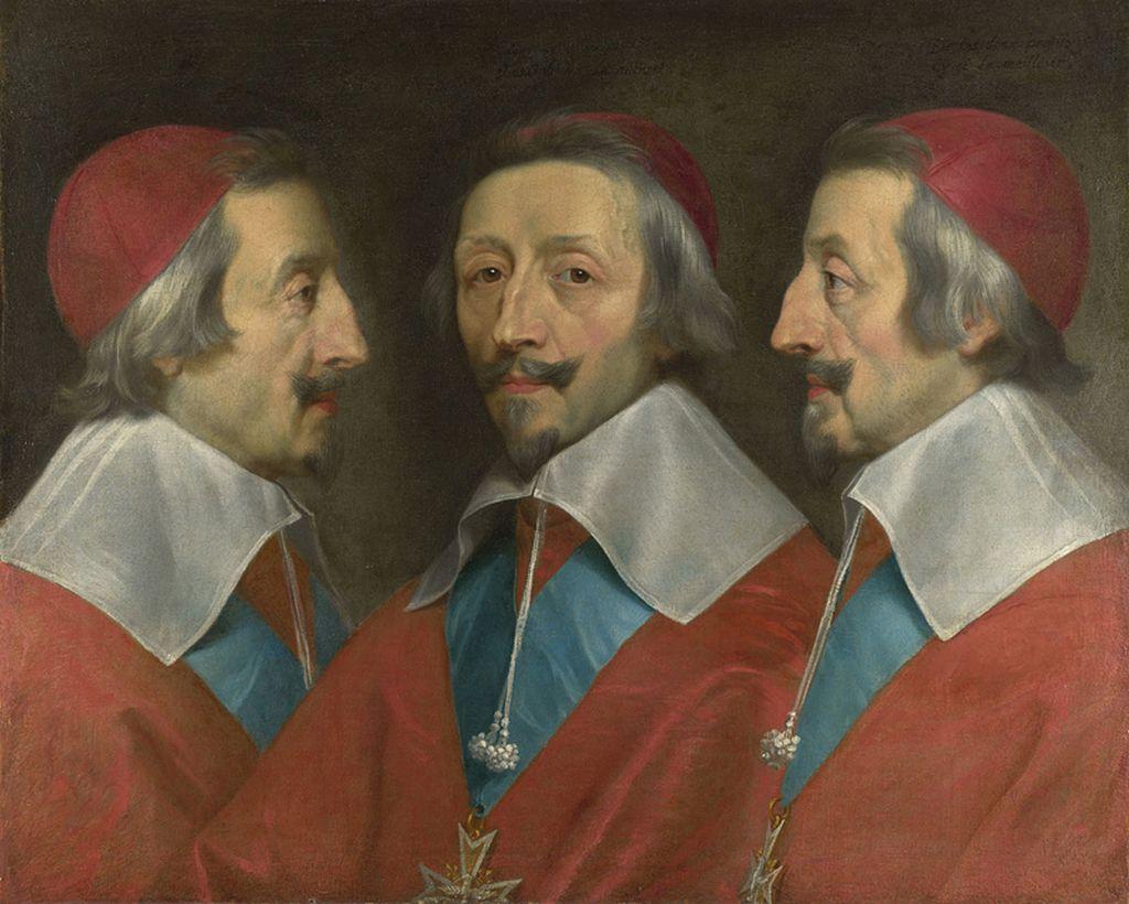 Dreifach Portraet Kardinal Richelieu von Philippe de Champaigne