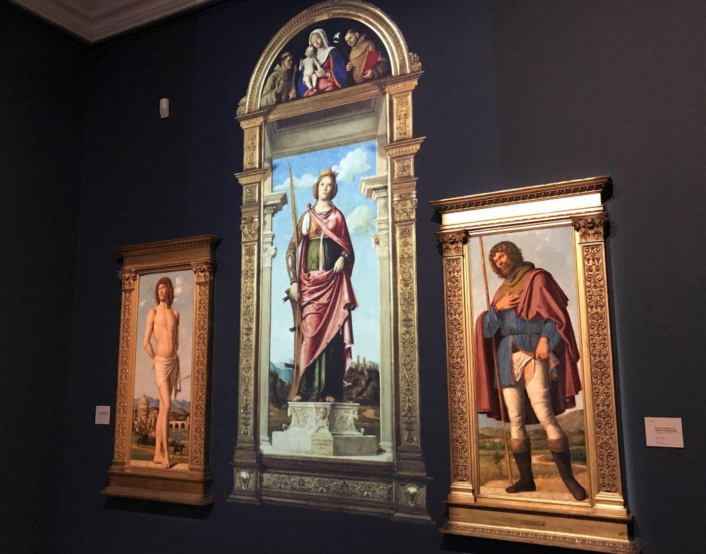 Bilder Heiliger Sebastian, heiliger Rochus und Heilige Katharina von Cima da Conegliano