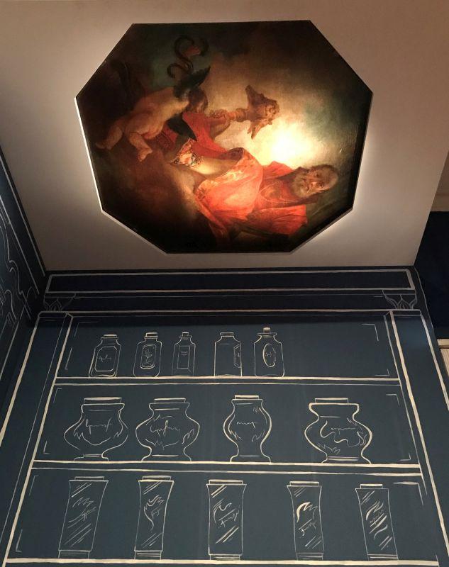 Allegorie des weisen Rates von Francesco Zugno als inszeniertes Deckengemaelde im Musée des Beaux Arts Strasbourg