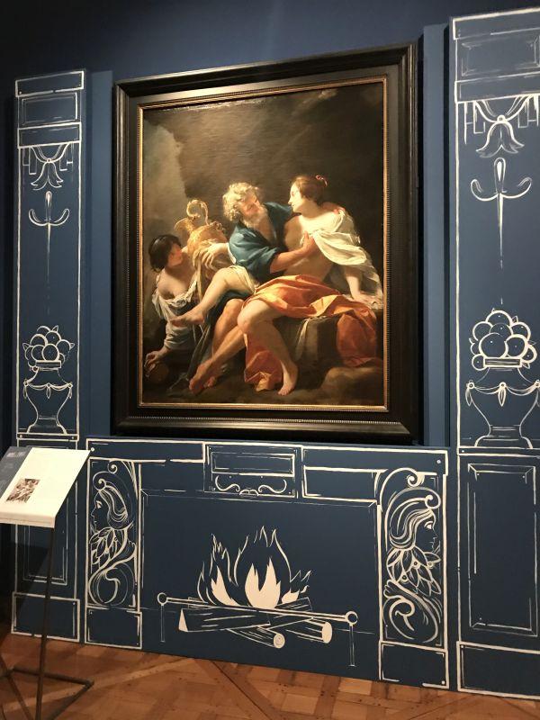 Loth und seine Maedchen als Kaminbild im Musée des Beaux Arts Strasbourg