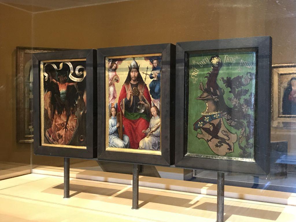 Altarbild Himmlische Erlösung von Hans Memling im Musée des Beaux Arts Strassburg