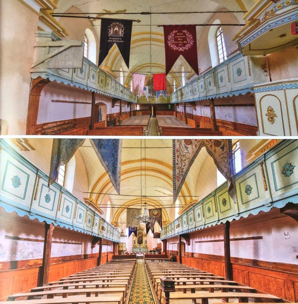 Innenraum der evangelischen Kirche von Marpod, Siebenbuergen