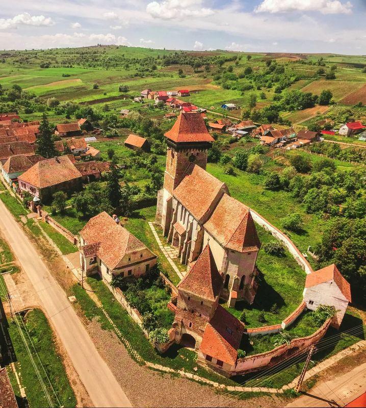Kirchenburg Bogeschdorf; Foto aus dem Buch Ueber Siebenbuergen Kirchenburgen im mittleren Kokelland