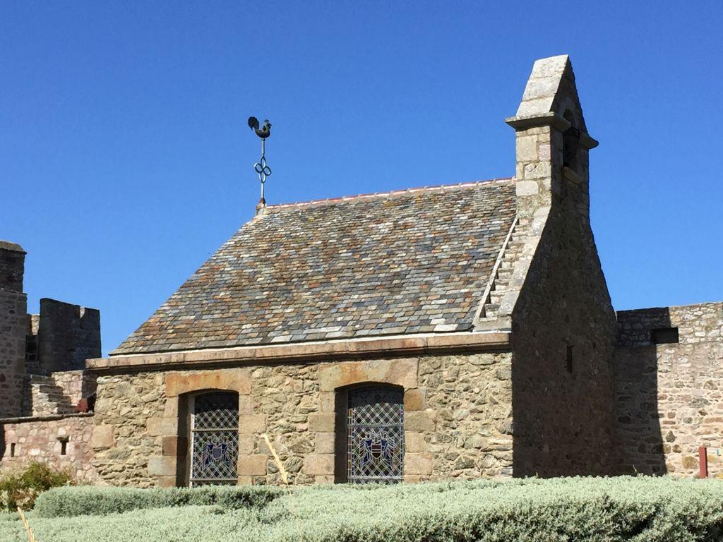 Kapelle aus dem 18. Jahrhundert in der Burg La Latte
