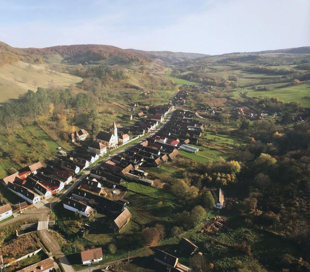 Luftaufnahme von Peschendorf aus Band 9 Kirchenburgen im Schaessburger Land
